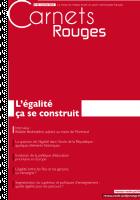 Carnets Rouges n°2, janvier 2015 : L'égalité, ça se construit