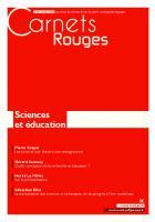 Carnets Rouges n°14, octobre 2018 : Sciences et éducation