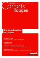 Carnets Rouges n°15, janvier 2019 : Corps, éducation et société