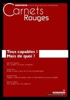Carnets Rouges n°5, décembre 2015 : Tous capables ! Mais de quoi ?