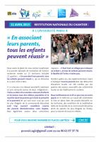 11 avril : restitution publique