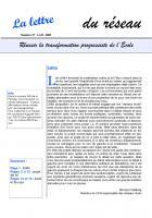 La lettre du réseau n°27 - avril 2005