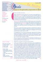 La lettre du réseau n°37, février 2009