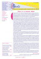 La lettre du réseau n°38 - avril 2009