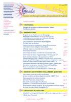 La lettre du réseau n°59 - janvier 2013