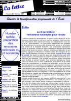 La lettre du réseau n°20 - octobre 2003