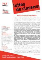 Luttes de classe(s) n°3 : avril 2015 - réforme du collège