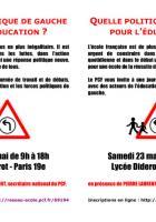 Flyer 23 mai : quelle politique de gauche pour l'éducation ?