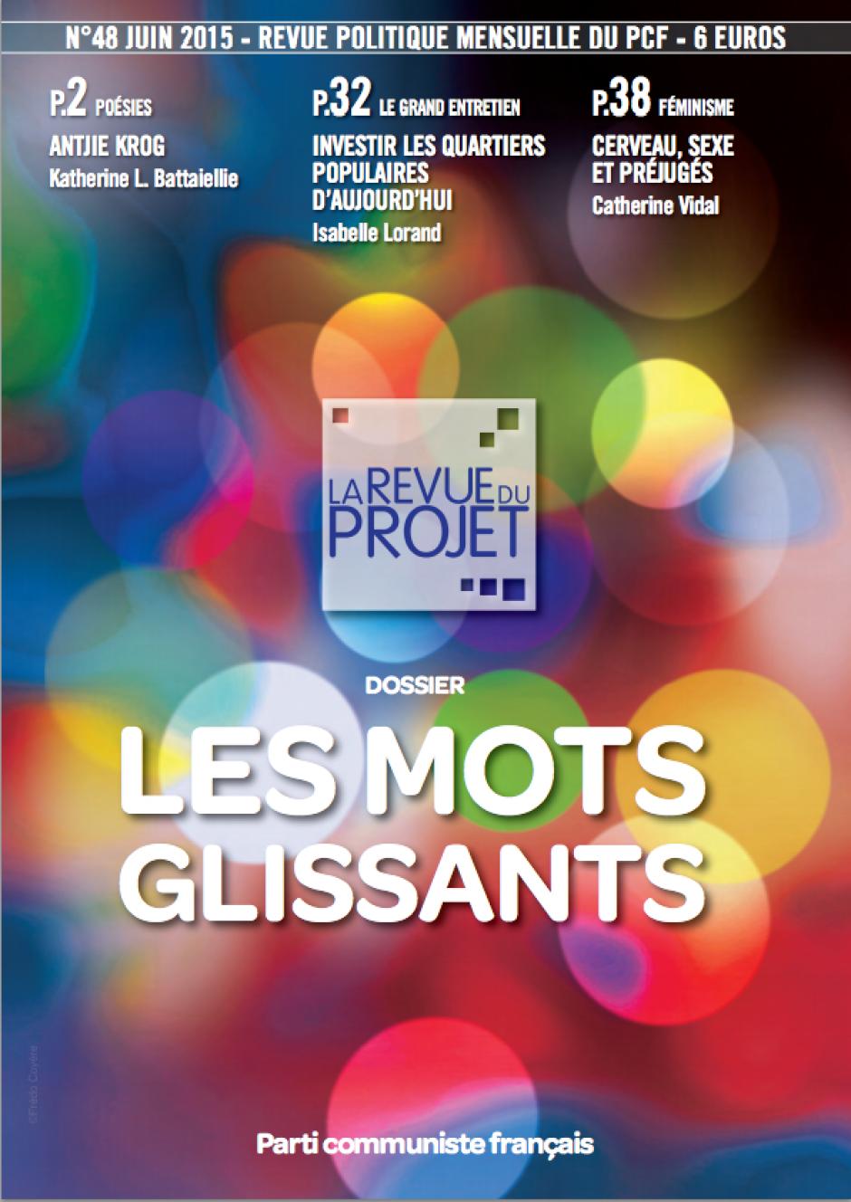 La langue, un enjeu politique, Entretien avec Marine Roussillon publié dans La Revue du projet, n°48, Les Mots glissants