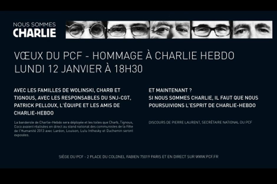 Vœux 2015 et hommage à Charlie Hebdo, Pierre Laurent