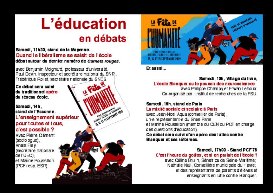 L'école en débat a la Fête de l'Huma