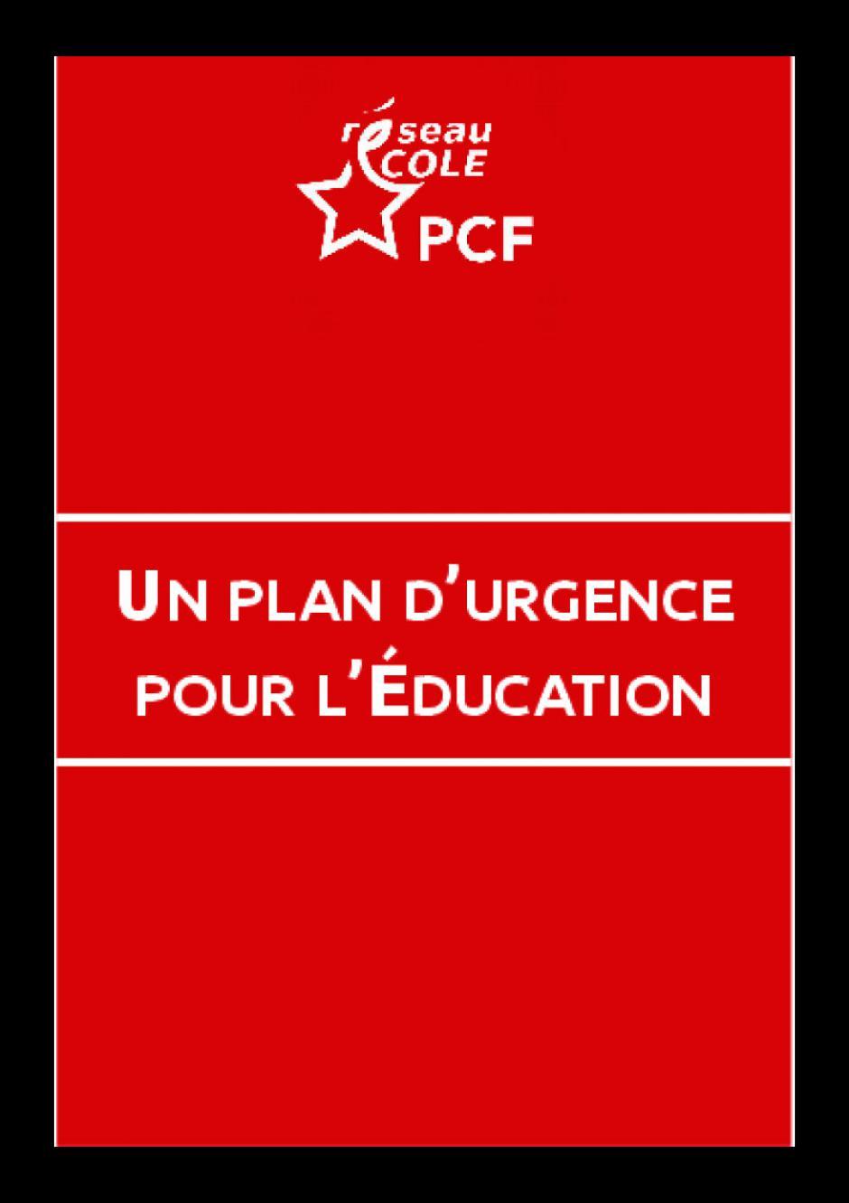 Un plan d'urgence pour l'école