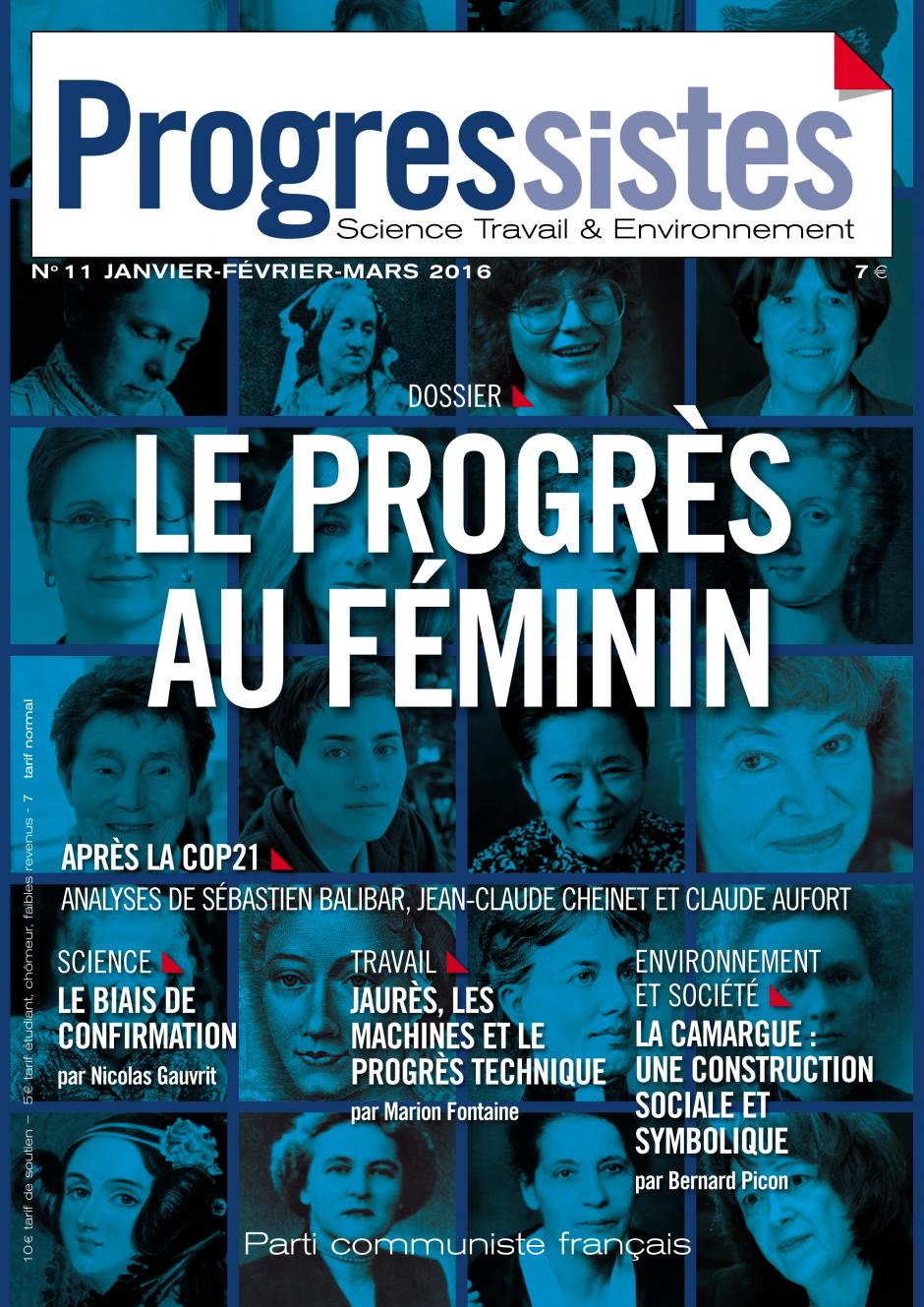 L'égalité entre filles et garçons, un front de la bataille pour l'école de l'égalité par Marine Roussillon, paru dans Progressistes