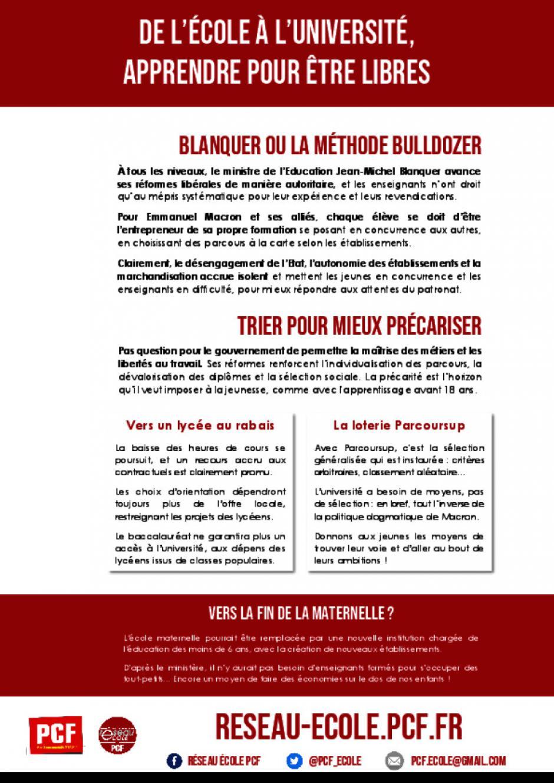 Tract - Mobilisation des 22 et 26 mai